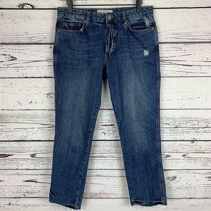 Free People Slim Boyfriend Jean